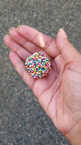 Rolled a few truffles in rainbow sprinkles which were a big hit for the kids.